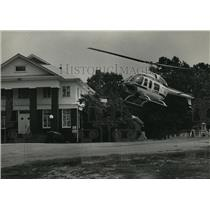 1983 Press Photo Carraway Hospital, Lifesaver II lands, Union Baptist Church, AL