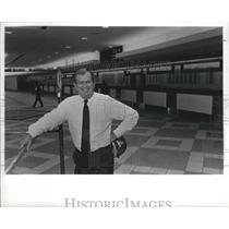 Press Photo James Brough, Birmingham Airport Director Reviews Renovations