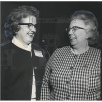 1969 Press Photo Miss Jaunita Winston & Miss Catherine McCrorie, directors BPW