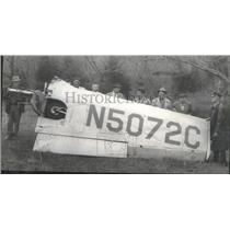 1957 Press Photo Wreckage of Light Plane Where Three Perished in Alabama