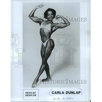 1986 Press Photo Bodybuilder Carla Dunlap - mjp10492