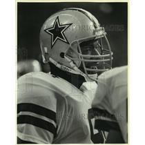 1986 Press Photo Dallas Cowboys football player Thornton Chandler - sas07111