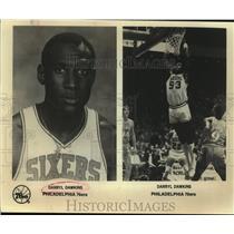 Press Photo Philadelphia 76ers basketball player Darryl Dawkins - sas07494