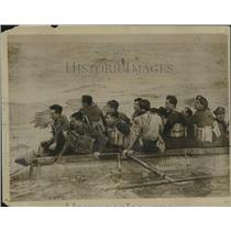 1917 Press Photo Survivors From Torpedoed Ivernia Rde Raft in the Mediterranean
