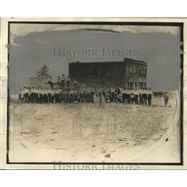 1872 Press Photo Birmingham Volunteer Firemen and firehouse in 1872, Birmingham