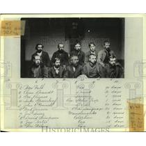 1900 Press Photo Photographic record of convicted men at House of Correction