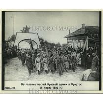 1920 Press Photo Russian Red Army troops in the Siberian city of Irkutsk