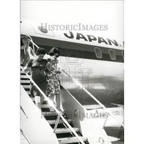 1973 Press Photo Released Passengers From Hijacked Japanese Plane - KSB70777