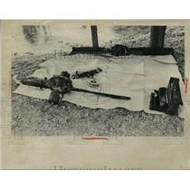 1974 Press Photo Airplane accident wreckage - nem53817