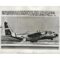 1959 Press Photo Giant Air Force C-130B Hercules Troop and Cargo Carrier