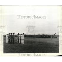1941 Press Photo Aviation Cadets during regimental exercises with high officers