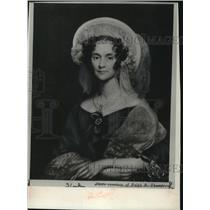 1836 Press Photo Portrait of Sallie Stevenson, wife of US minster in London