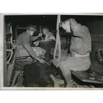 1935 Press Photo Indiana National Guard injured in General Strike In Terre Haute