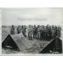 1933 Press Photo Indiana National Guard establish martial rule at Sullivan