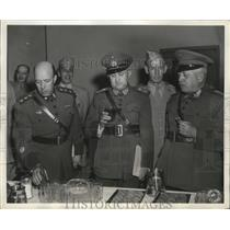 1943 Press Photo Brazil Minister of War in San Antonio Army Service Forces Depot