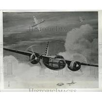 1941 Press Photo A new Martin bomber plane in an artists concept view