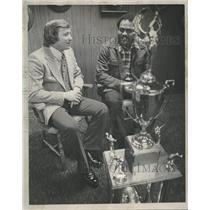1973 Press Photo Quarterback Charley Johnson Paul Smith - RRQ18665