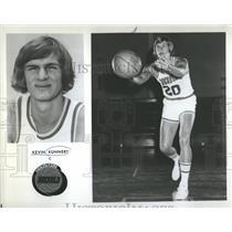 1975 Press Photo Houston Rockets Foward Kevin Kunnert - RRQ20125