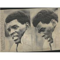 1968 Press Photo Denver Broncos QB Marlin Briscoe - RRQ20181