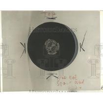 1936 Press Photo hockey puck equipment piece - RRQ20201