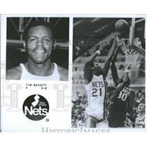 1979 Press Photo Tim Bassett Forward New Jersey Nets - RRQ20331