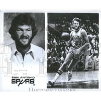 1977 Press Photo Coby Dietrick San Antonio Spurs player - RRQ20353