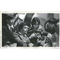 1975 Press Photo Larry Brown Richard Lamm Denver Rotary - RRQ22697