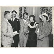 1933 Press Photo Detroit Tigers Joyner White - RRQ23325