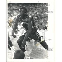 1992 Press Photo Rumeal Robinson University of Michigan Basketball - RRQ29447