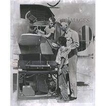 1952 Press Photo Int Aviation Exposition Air Force Kids - RRQ19649