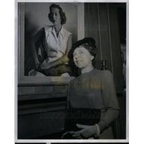 1940 Press Photo Iris Miller Painter Artist - DFPD12395