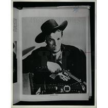 1985 Press Photo Lash LaRue Cowbow - DFPD03203