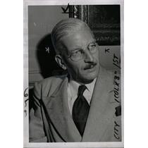 1953 Press Photo Kurt J. Schusnigg Austrian Politics - dfpd38793