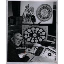 1948 Press Photo Earl Crabb Astrologer Horoscope - DFPD63317