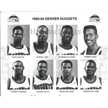 1993 Press Photo 1993-1994 Denver Nuggets Team Photo - RRQ21241