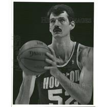 1989 Press Photo Charles Goodrich Chuck Houston Rockets - RRQ28403