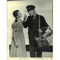 "1940 Press Photo Virginia Weidler, Mickey Rooney in ""Young Tom Edison"""
