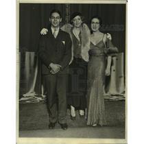 1931 Press Photo John Dew Colt, Ethel Barrymore, & Ethel Barrymore Colt on Stage