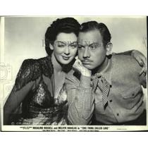 """1940 Press Photo Rosalind Russell and Melvyn Douglas in """"This Thing Called Love"""""""