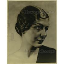 1932 Press Photo Ann Chase NBC actress for Pigskin Romances on NBC-KPO network