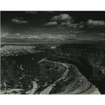 1949 Press Photo Aerial view of Los Alamos, New Mexico - lrz02595
