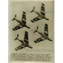 1956 Press Photo Sky Blazers of U.S. 12th Air Force, Fly in Acrobatic Performanc
