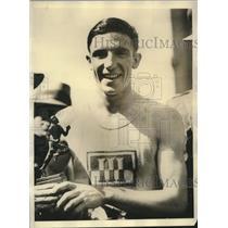 1928 Press Photo Bill Agee Winner of Baltimore Marathon & Place on U.S. Olympics