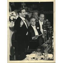 1938 Press Photo Anthony Eden Delivers Address of Association of Manufacturers