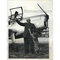 1951 Press Photo Theodore Diot fulfilled his dream to fly at the age of 81