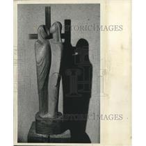 1949 Press Photo Religious artwork of artist Sister Thomasita of Milwaukee, WI