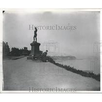 1891 Press Photo Leif Erikson on Lake Shore, Milwaukee - mjc10022