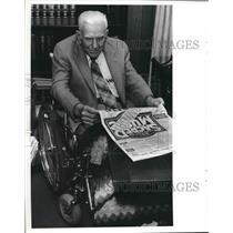 1981 Press Photo Tuscaloosa Attorney Charles Gross enjoys Festival of Music