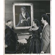1952 Press Photo Georges Bridges, Ann Crecenzi & Lemuel McDaniel's art show