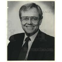 1983 Press Photo WTMJ radio host Jim Tate, Milwaukee, Wisconsin - mjc10622
